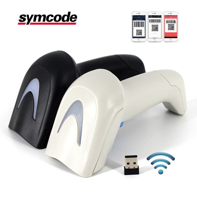 2D QR CODE Wireless Barcode Scanner Supermarket 1800mA Li - Ion Battery